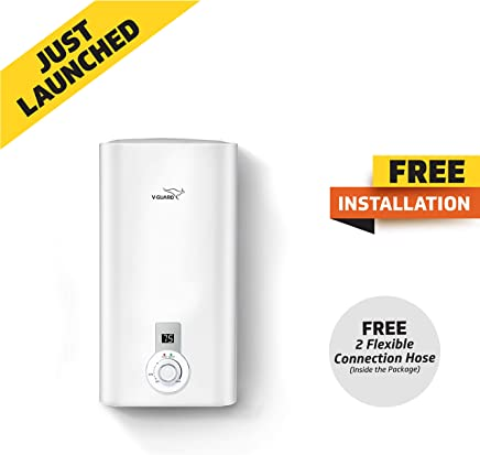 V Guard Victo Plus 10 Litre Water Heater-Free Installation With Inlet and Outlet Pipe;Digital Display