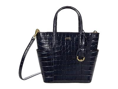 LAUREN Ralph Lauren Carlyle 20 Crossbody (Lauren Navy) Handbags