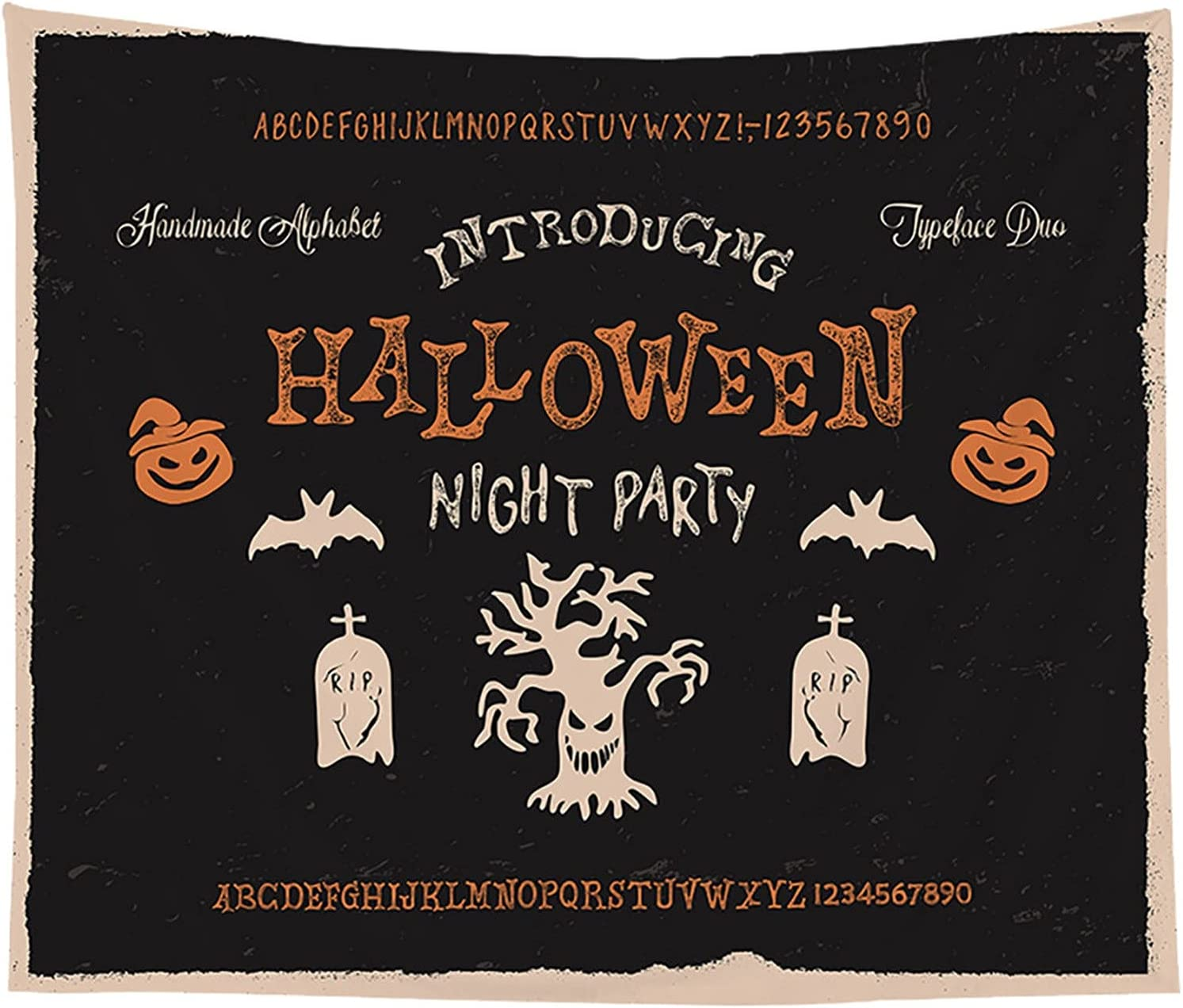 Halloween Tapestry All stores are sold Bedroom Wall Japan Maker New CGT046- Hanging Cloth Decoration