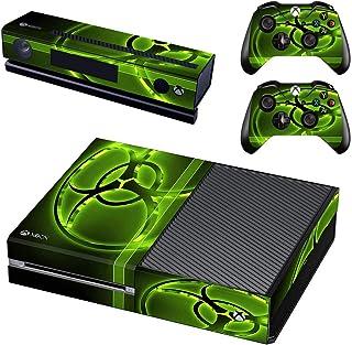 Adventure Games - XBOX ONE ORIGINAL - Biohazard, Neon - Playstation 4 Vinyl Console Skin Decal Sticker + 2 Controller Skin...