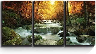 wall26 - Forest Waterfall Scene - Canvas Art Wall Decor - 16