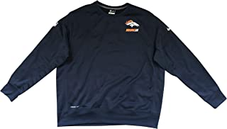 Nike Therma Fit Denver Broncos 2015 Sideline Crew Fleece Men's Pullover Sweatshirt 656880