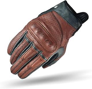 SHIMA Caliber Mens Vintage Leather Motorcycle Gloves - Brown / Medium