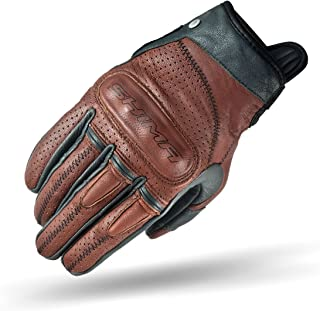 SHIMA Caliber Mens Vintage Leather Motorcycle Gloves - Brown / XXL