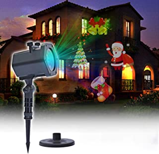 Halloween Projector Lights,Projector with Water Wave Christmas Lights, 2-In-1 with Remote Timer Waterproof Light Projector...