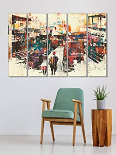 999Store bedroom decoration items wall frames for home decoration Abstract modern city wall art panels hanging painting Se...