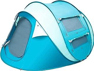 Sunnychic ポップアップテント 3人用 4人用 フルクローズ 防水 耐水圧3000mm 通気 簡易クイック組立 UVカット サンシェード 防災 2層 シェルター