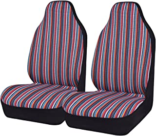 HORSE KINGDOM NEW ARRIVAL- Universal Ethnic Car Seat Covers For Women Girls Two Front Seat Airbag Compatible For Cars, Trucks, Suvs, Sedans(two front)