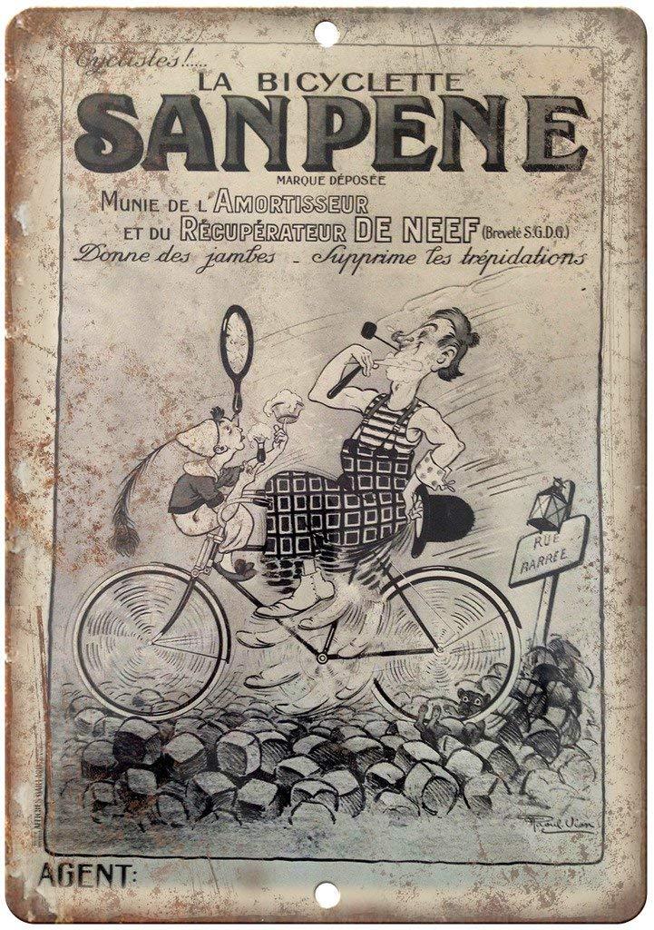 not Póster de Metal con Texto en inglés Sanpene Bicycle France ...