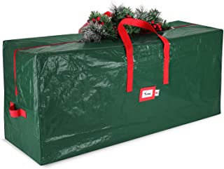 StorageMaid Christmas Waterproof Artificial Storage Bag Fits Up to 7.5 Foot Disassembled Xmas Tree Box with Reinforced Car...