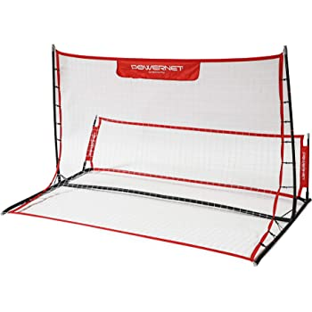 PowerNet Fast Pass Rebounder Soccer Trainer 6' x 4' | Work on Volleys, Passing, First Touch, Trapping | Enhance Passing and Receiving | Dual Side Solo or Team Training