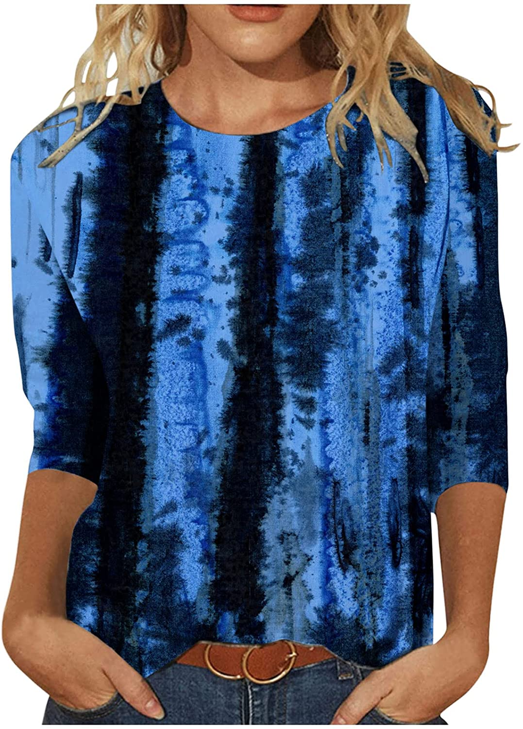INNOVIERA Long Sleeve Shirts for Women Casual,Womens Floral Round Neck Sweatshirts Tops Loose Roundintage Tunic Blouses