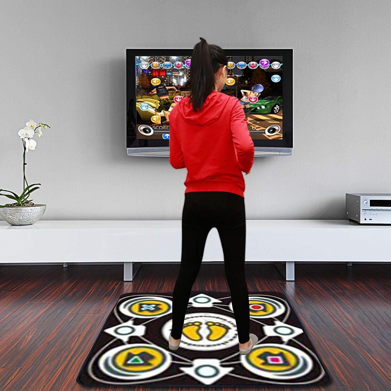 Yoga Game Blanket Special Dancing Mat Sense Game for PC TV 8 Bit Black Single Dancing Mat for Kids Adults USB Non-Slip Dancing Mat Dance Pad with 50 Musics