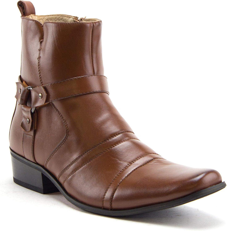 Jazame Men's 39093 正規品スーパーSALE×店内全品キャンペーン Leather Lined Dress Western Style Cowboy 今ダケ送料無料 Tall