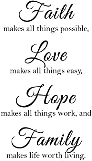 Newclew Faith Makes All Things Possible, Love Makes All Things Easy, Hope Make All Things..
