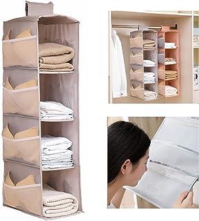 Dyna-Living Étagère à suspendre pour armoire - Robuste - Pliable - Convient pour le rangement familial (gris)