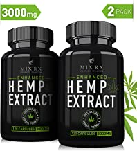 (2 Pack | 240 Pills) Hemp Oil Capsules 3000MG - for Pain Relief Anxiety Sleep Mood Immune - Best Natural Organic Hemp Seed Oil Powder Extract, Omega 3 6 9 - Anti Inflammatory Joint Support