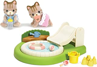 Calico Critters Sandy Cat Baby Twins with Baby Pool and Sandbox Play Set