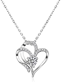 Arletty Love Heart Birthstone Necklaces for Women Birthday Gifts for Women