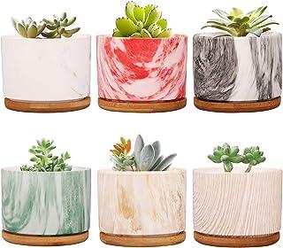 Plant Pot ,Brajttt Ceramic Succulent Pot Planter Flower Pots with Drainage,Small Planter Pots for Mini Plant Ceramic Flowi...