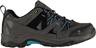 Official Gelert Ottawa Low Boys Walking Shoes Charcoal/Blue Trainers Footwear