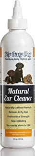 My Busy Dog Natural Dog Ear Cleaner with Coconut and Palm - 2X More Included in Each Bottle Than Competitors (8 oz)
