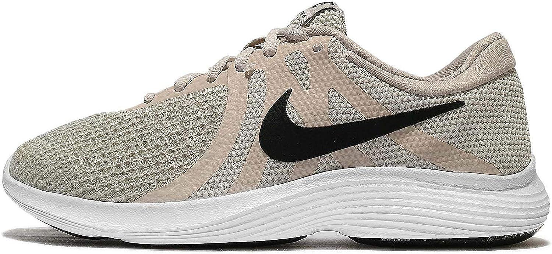 Nike damen Revolution 4 Light Bone schwarz-Pale grau-Weiß grau-Weiß Running schuhe (9)  niedrigste Preise