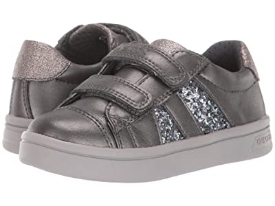 Geox Kids Jr Djrock 35 (Toddler) (Black/Charcoal 2) Girls Shoes