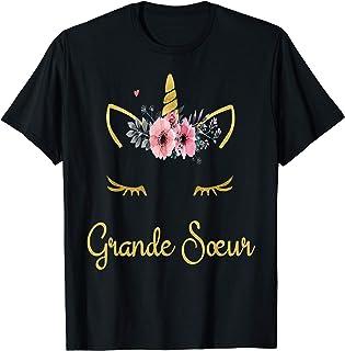 Enfant fille Licorne Grande Sœur Je Serai une Grande Sœur T-Shirt