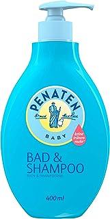 Penaten Baño y champú limpiador suave y cuidado 2 en 1 gel de lavado y champú para bebés (1 x 400 ml)