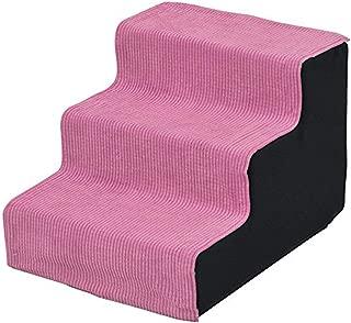 山善 宠物步骤 3层 浅粉色 -
