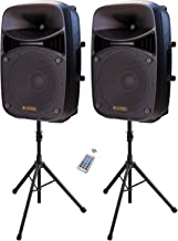 $279 » Sponsored Ad - LAGRIMA LPS-312 Portable 15-Inch Woofer 2-Way Powered PA Speaker System Combo Set with Bluetooth/USB/SD Car...