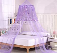 Bed Canopy with 30 LED Star Lights and Remote! (Purple)