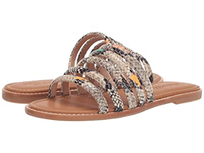 Madewell The Addie Slide Sandal Rainbow Snake (Light Umber) Women