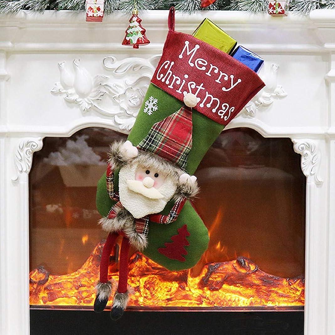 連続的慣らす絶対のA69Qクリスマスソックス ストッキング ギフトバッグ キャンディーバッグ デコレーション クリスマス 装飾品 ホーム ドア 壁の装飾 家の装飾 可愛い クリスマスツリー飾り プレゼント袋 クリスマス用品 サンタ靴下 壁掛け 装飾 お菓子入れ