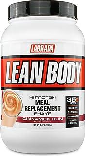 Labrada Nutrition Lean Body Hi Protein Meal Replacement Shake, Cinnamon Bun, 1.12 Kg