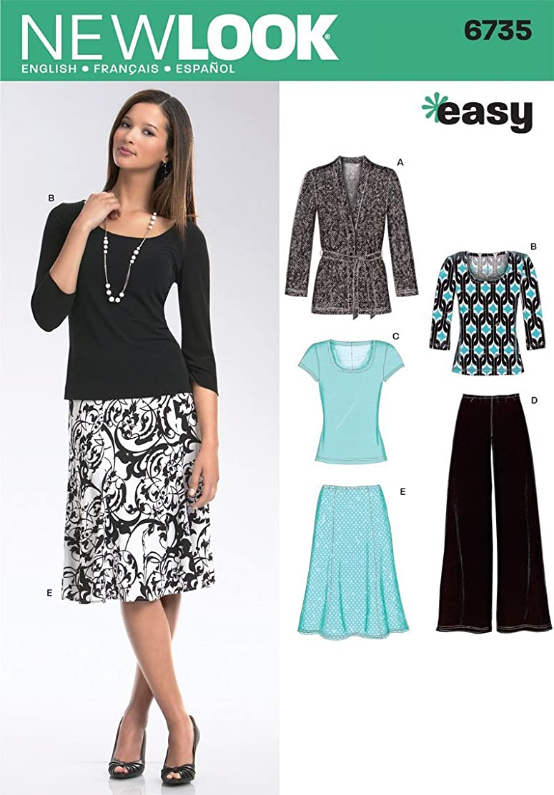New Look Sewing Pattern 6735 Misses Separates, Size A (10-12-14-16-18-20-22)