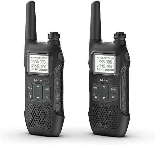 Radioddity PR-T1 Talkie-walkie Enfant PMR 446 Rechargeable Talkies Walkies 16 canaux sans Licence avec écran, Chargem...