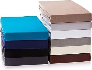 Drap-housse exclusif Drap-housse jusqu'à 25 cm de hauteur de barre | Drap 100% coton | 160 g/m² | ÖKO-TEX STANDARD |(180-2...