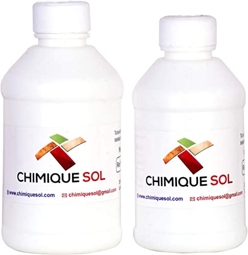CHIMIQUE SOL Vishwa Creation ChimiqueSol Crystal Clear Resin and Hardner High Gloss, 300 Gm