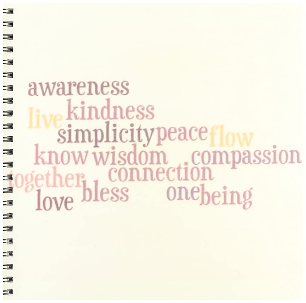 3dRose db_29522_1 Kindness and Awareness Inspirational Words Motivational Drawing Book, 8 by 8-Inch