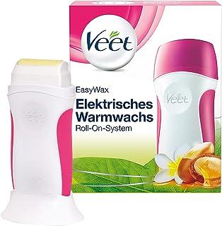 Veet EasyWax elektrisch warm wax apparaat met roll-on systeem - voor een gladde huid tot wel 28 dagen - 1 x apparaat met w...