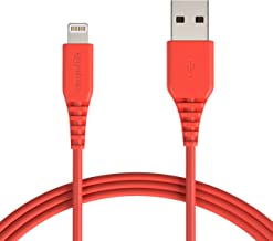 AmazonBasics Lightning to USB A Cable - Apple MFi Certified iPhone Charger - Red, 6-Foot