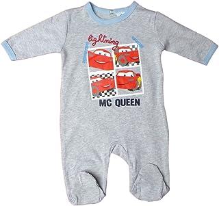 Disney Cars Pyjama/Schlafanzug/Strampler - Baby Lightning Mc Queen Laechle mit Mir! - Grau