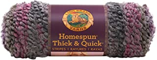 Lion Brand Yarn 792-207 Homespun Thick and Quick Yarn, Greystone Stripes