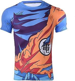 CoolChange Camiseta de Super Sayajin Cosplay | Disfraz Goku para Fan de Dragon Ball | Talla: L