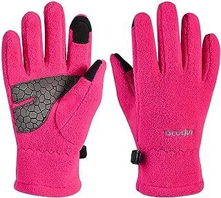 Kids Winter Gloves,Girls Boys Touchscreen Gloves Thermal Polar Fleece Sports Gloves Warm Gloves for Children Teenagers