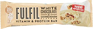 Fulfil White Chocolate and Cookie Dough Flavour Vitamin & Protein Bar, 55 gm