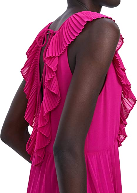 Zara 2731/240/630 - Vestido Plisado para Mujer - Rosa - Large ...
