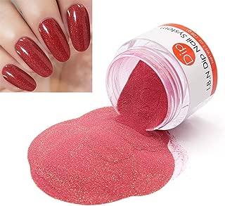 Red Sparkle Dipping Powder (Add Vitamin) Premium Dip Acrylic Powder Nail Art Manicure, 1 Ounce /28g, No Need Nail Dryer Machine (DIP 047)